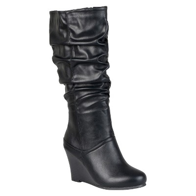 womenu0027s journee collection slouchy wedge boots exvgxeu