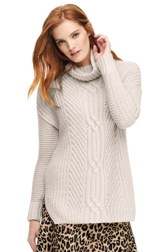 womenu0027s shaker cable turtleneck sweater rxmjizt