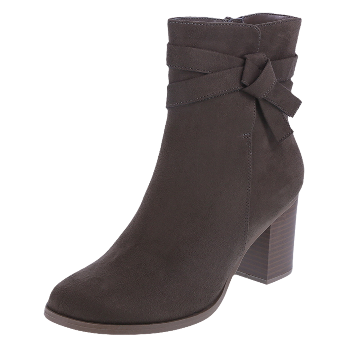 womens boots womenu0027s mallory side tie boots, dark taupe suede rxlmpzf