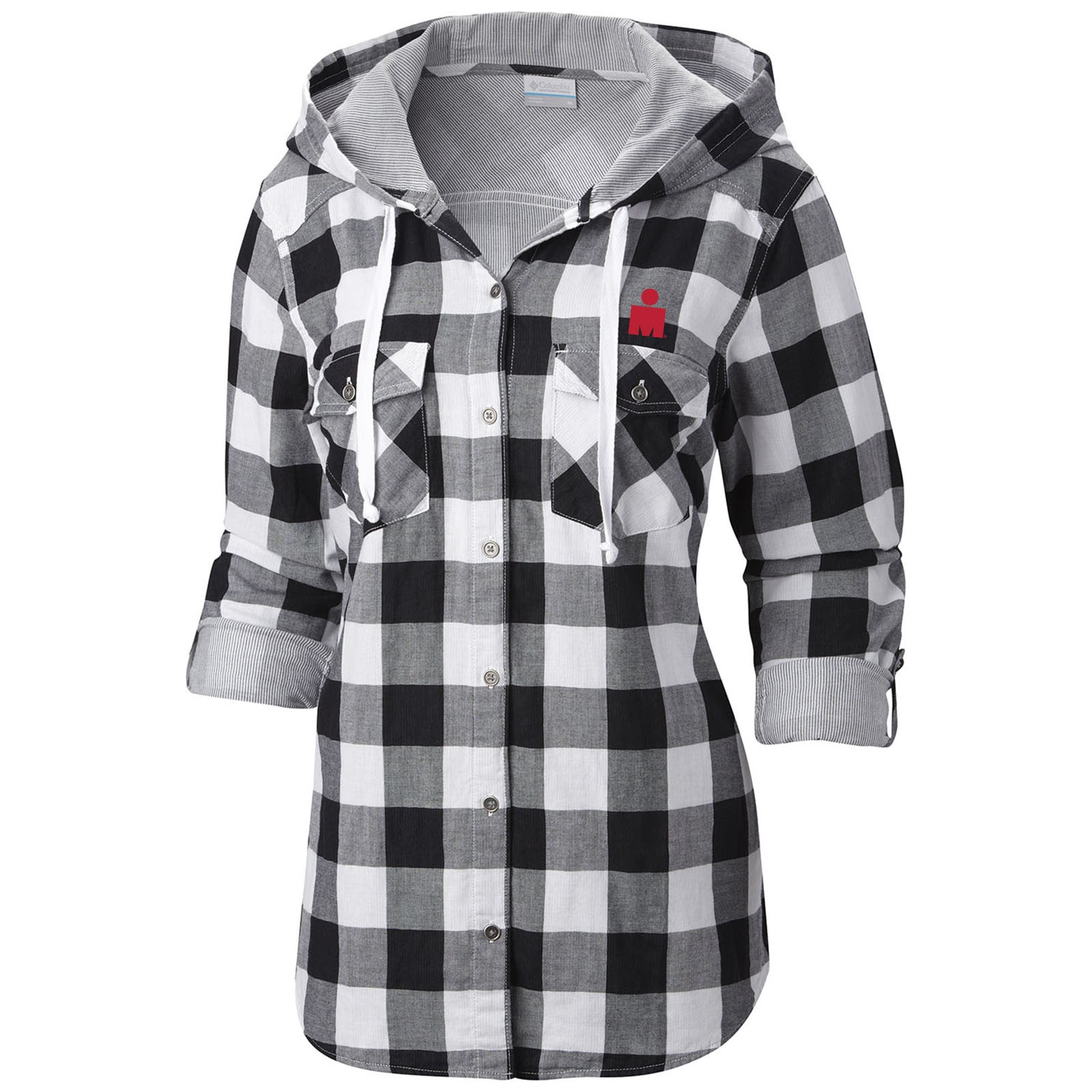 womens flannel shirts ironman columbia womenu0027s times two hooded flannel shirt mwfivdu