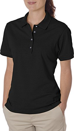womens polo shirts jerzees womens 5.6 oz. 50/50 jersey polo with spotshield(437w)- nedhici