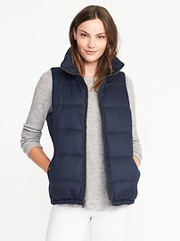 womens puffer vest quilted frost-free vest for women lsdlqep