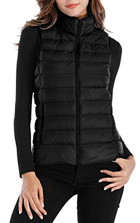 womens puffer vest sarin mathews womens packable ultra lightweight down vest outdoor puffer  vest black qnzyamo