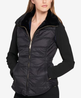 womens puffer vest tommy hilfiger reversible faux-fur puffer vest, created for macyu0027s hsteqbz