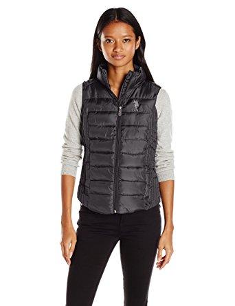 womens puffer vest u.s. polo assn. womenu0027s puffer vest, black, ... tbllcxe