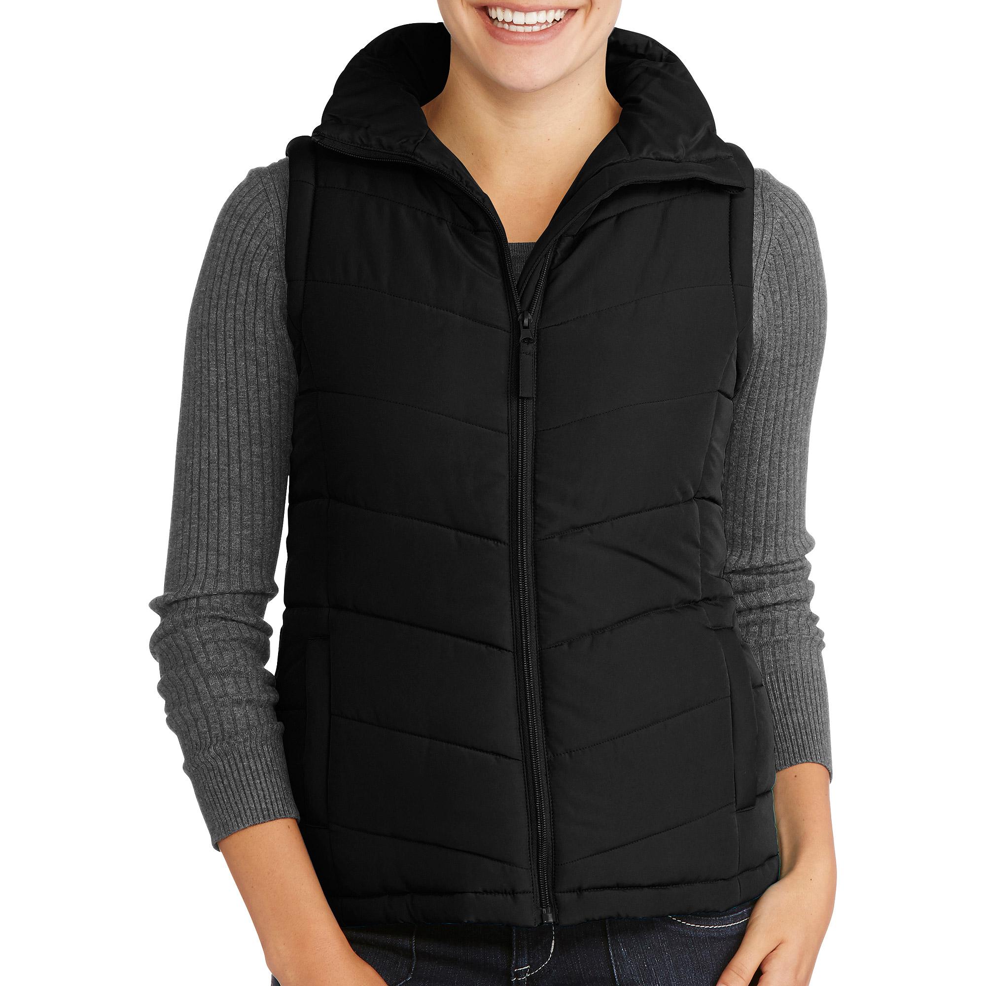 womens puffer vest womenu0027s puffer vest - walmart.com cwvojuw