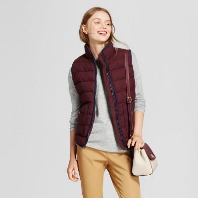 womens puffer vest womenu0027s quilted houndstooth puffer vest ... wbmpdux