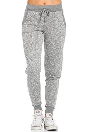 womens sweatpants my yuccie womenu0027s french terry sweatpants sweatpants with side pockets,  small, charcoal vitbaxf