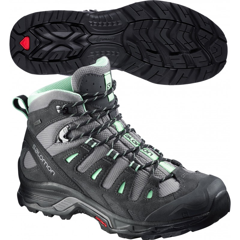 womens walking boots salomon quest prime gtx ladies walking boots - black wyleacs
