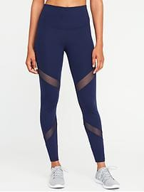 workout leggings high-rise mesh-panel leggings for women chigoud