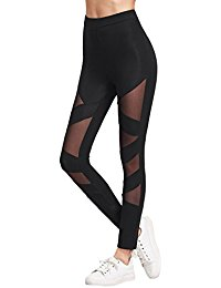 workout leggings womenu0027s mesh panel side high waist leggings skinny workout yoga pants ylllibx