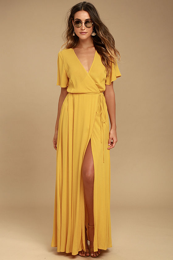 yellow dress much obliged golden yellow wrap maxi dress 1 urpwean