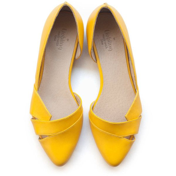 yellow flats, women shoes, yellow shoes, handmade. rndxlxq egfookh