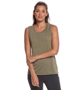 yoga tops bella + canvas flowy scoop workout muscle tee uunitjh