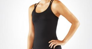 yoga tops cross strap cami 2.0 - black xfuguzs