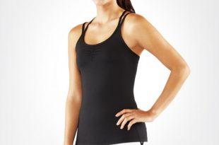 yoga tops cross strap cami 2.0 - black xfuguzs