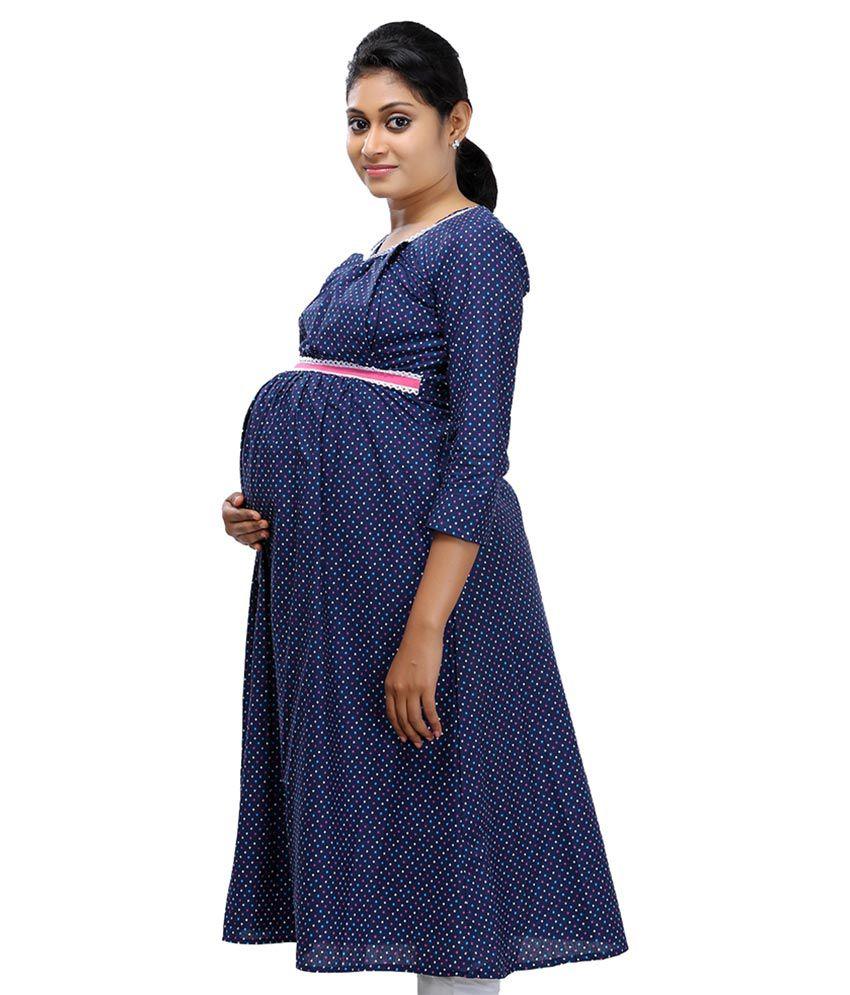 ziva maternity wear navy cotton kurtis ziva maternity wear navy cotton  kurtis ybvxavr