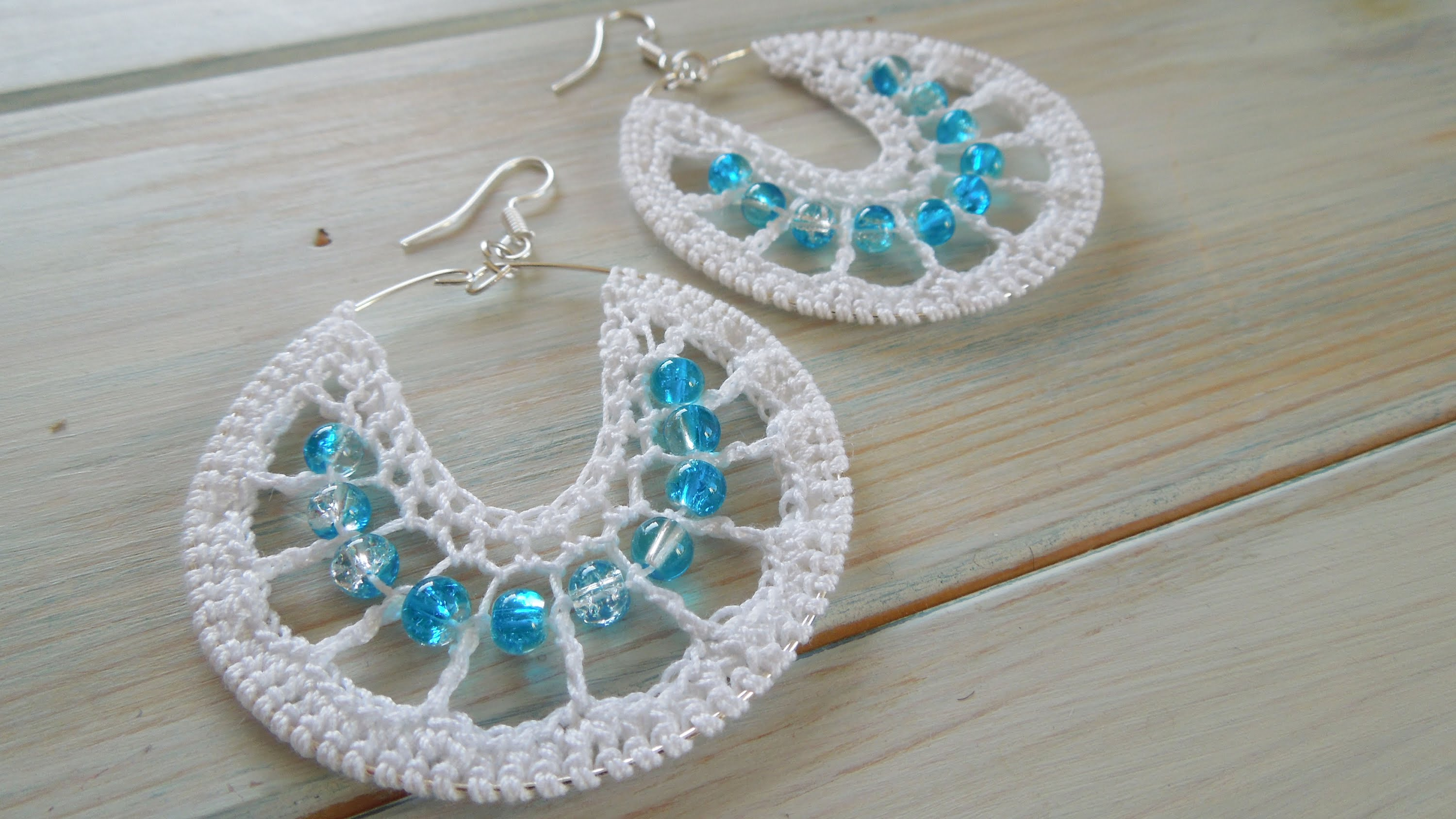 (crochet) how to crochet earrings version 1 vbwdyub