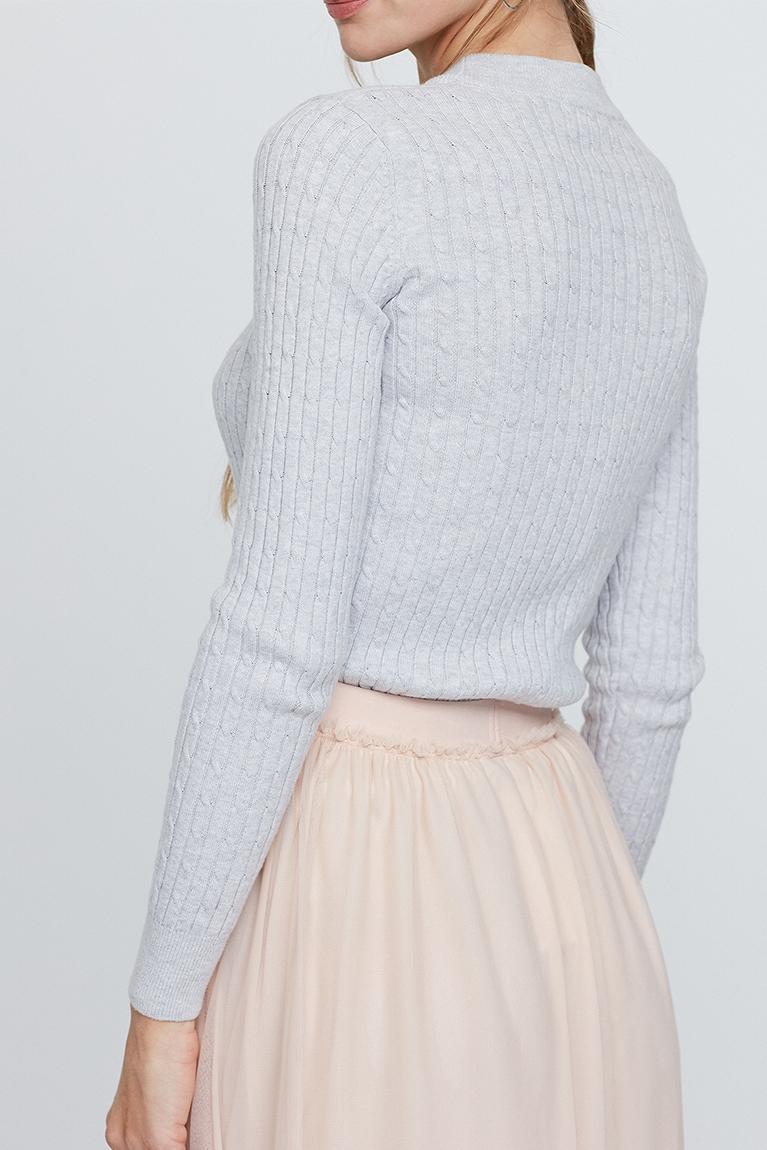 ... hanneli knitted sweater grey ... qdtmmio