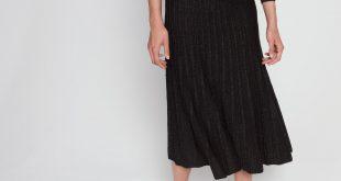 ... metallic effect knitted skirt : skirts u0026 shorts color multi-color ... pobfaog