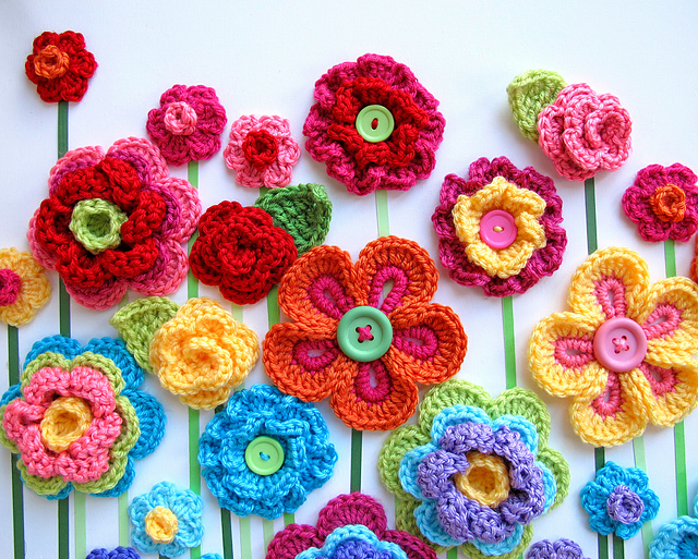 10 beautiful crochet flowers to make | skip to my lou mgagpbb