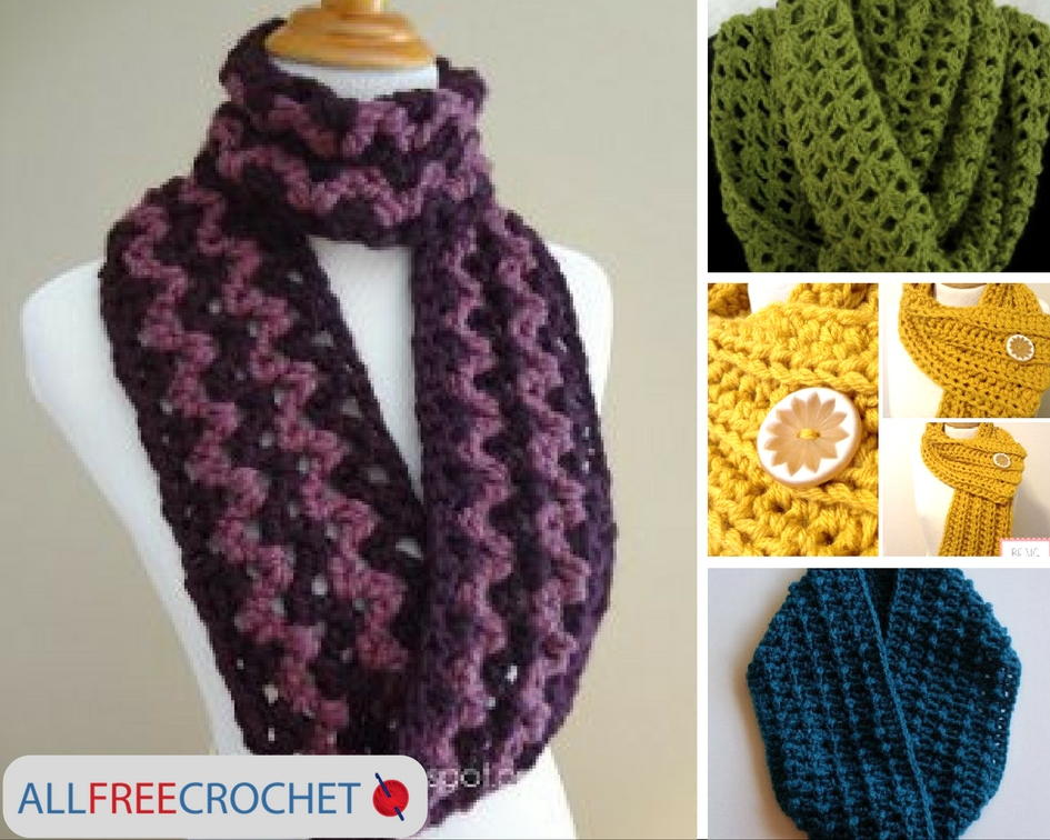 19 quick and easy crochet scarves | allfreecrochet.com ajkazfu