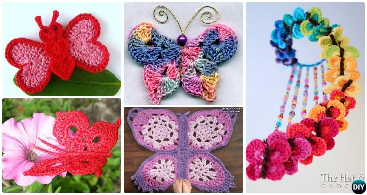 20 crochet butterfly free patterns rpzhmrb