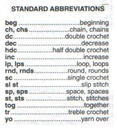 25 crochet terms defined glrxnku