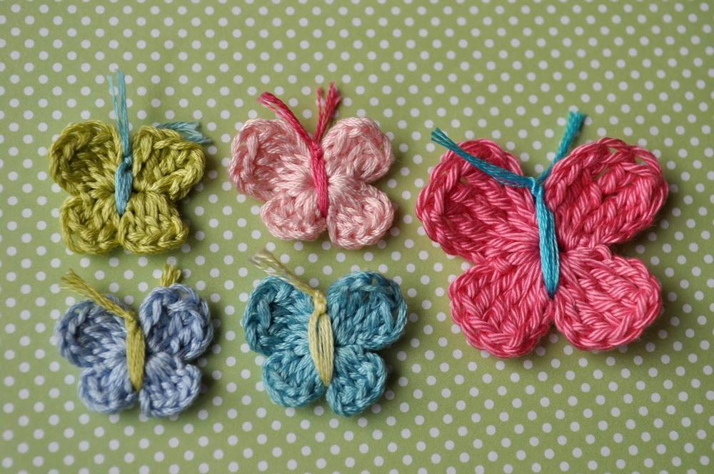 3 minute crochet butterfly pattern | allfreecrochet.com zrktzpg