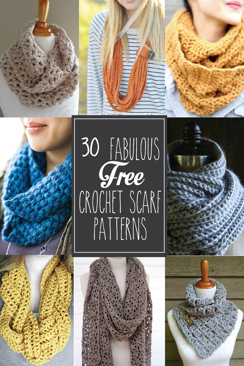 30+ free crochet scarf patterns - these are so great! mckpdbe