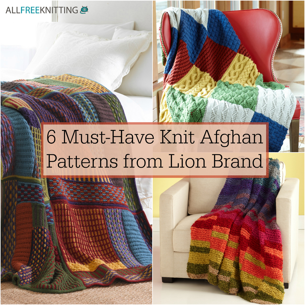 6 must-have knit afghan patterns from lion brand | allfreeknitting.com olilgkz