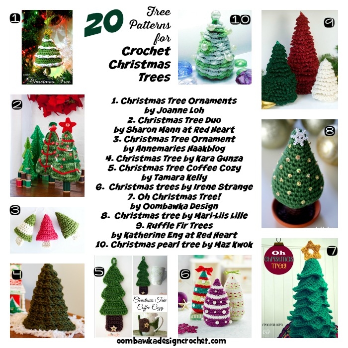a round up 20 free patterns for crochet christmas trees ndljjow