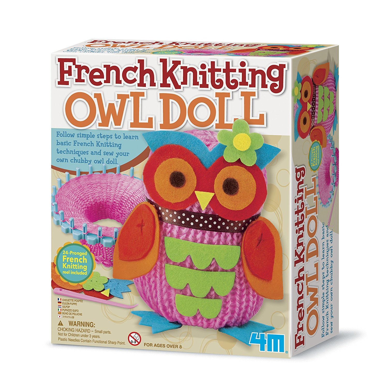 amazon.com: 4m french knitting owl doll kit doll: toys u0026 games zdtcltw