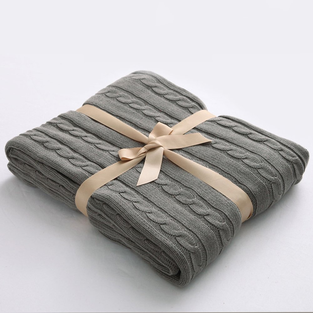 amazon.com: ntbay 100% cotton cable knit throw blanket super soft warm  multi yyyswax