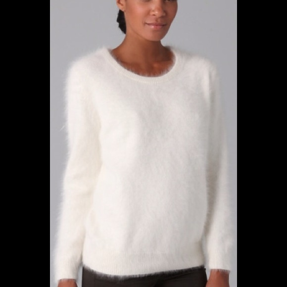 angora sweater, white ffydkjc