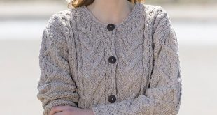 aran cable knit cardigan - wicker iwpnooc