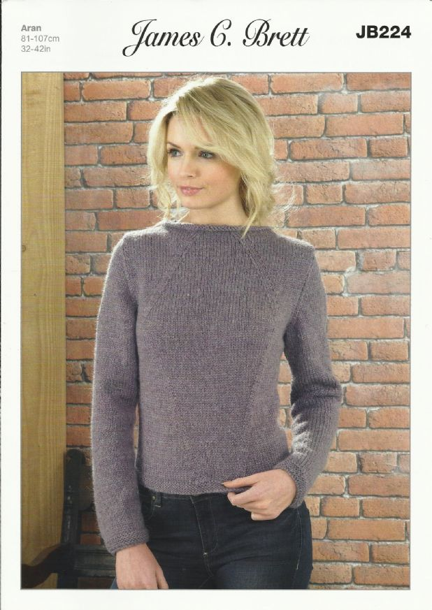 aran knitting patterns james c brett ladies sweater aran knitting pattern (jb224) . fefseww