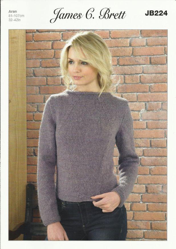 aran knitting patterns james c brett ladies sweater aran knitting pattern (jb224) . fefseww