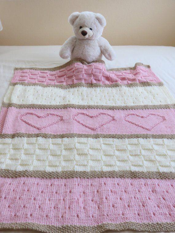 Baby Blanket Knitting Patterns baby blanket pattern, knit baby blanket pattern, heart baby blanket pattern,  crib insqmdj