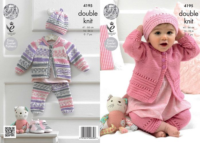 baby knitting patterns king cole cherished dk coat hat leggings baby knitting pattern 4195 bejwgqo