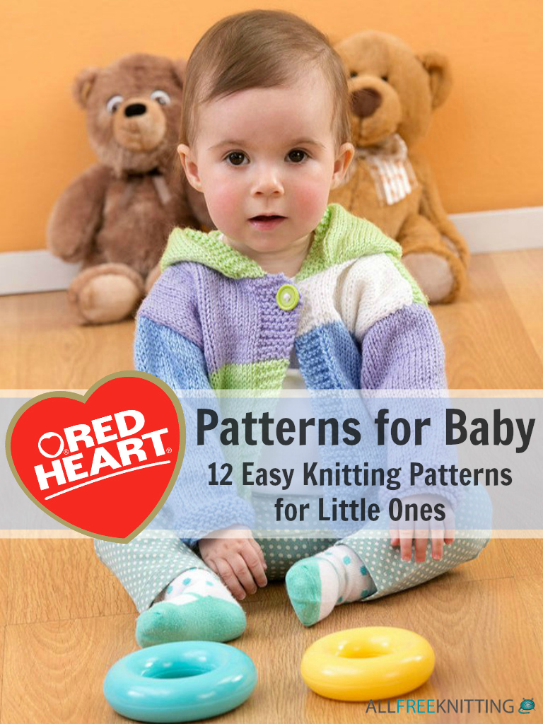 baby knitting patterns red heart patterns for baby: 12 easy knitting patterns for little ones jokbgwu