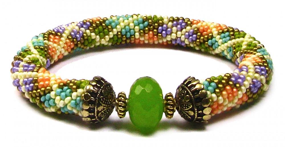 beads east beading argyle bead crochet bracelet aqovxnq