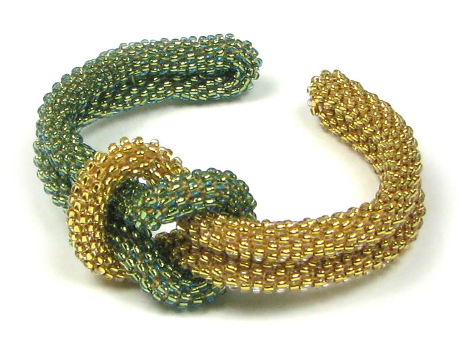 beads east beading love knot bead crochet cuff cuswmdu