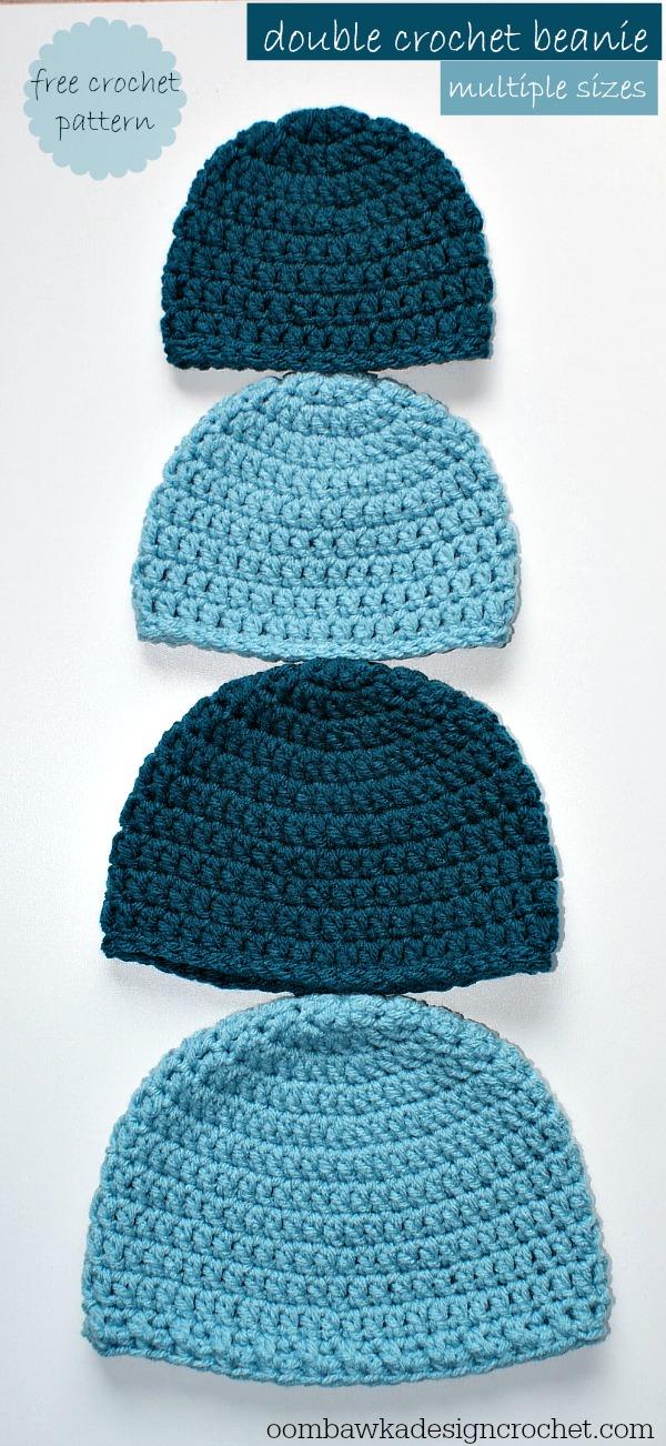 beanie crochet pattern simple double crochet hat - a free crochet pattern sizes: preemie to adult nvmwlhw