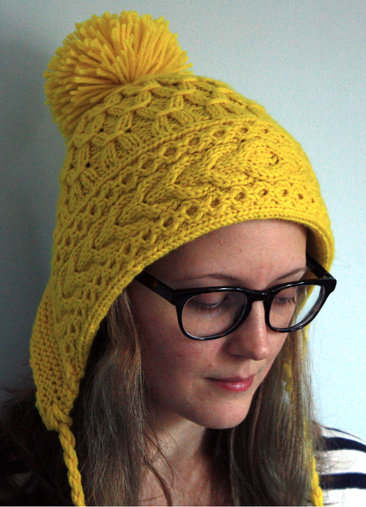 beanie knitting pattern cabled ski bonnet dzfyfqx