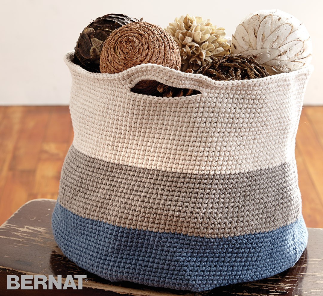 bernat patterns handy basket xuralmc