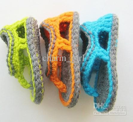 best sale crochet baby shoes infant hand knitting sandals 0 12m cotton yarn yzuvhky