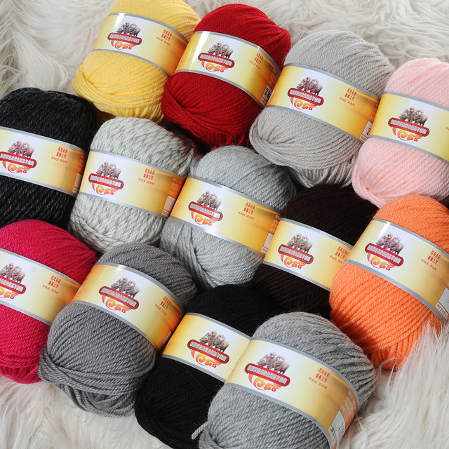 Best Wool Yarn best quality 200g 100% pure wool thick yarn for hand-knitted cashmere yarn uyppccz