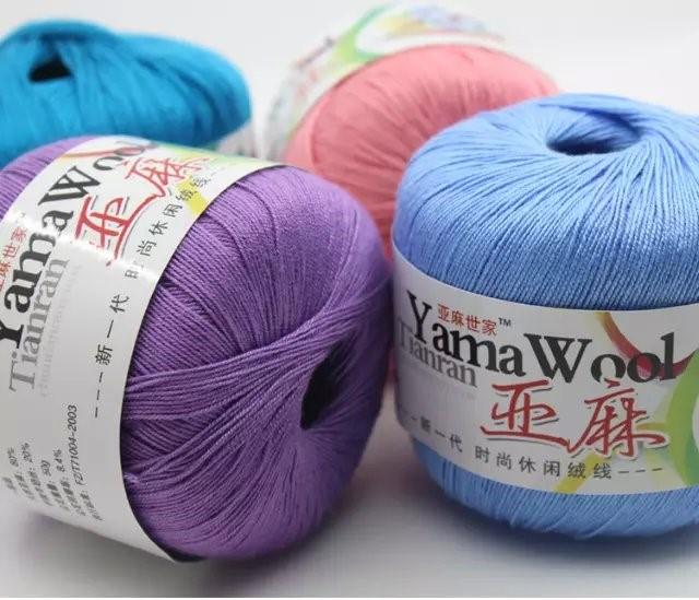 Best Wool Yarn free shipping best quality #5 lace yarn crochet yarn yama wool- summer xlviskj