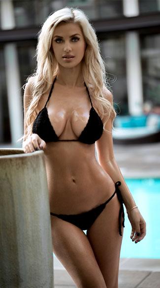 black crochet bikini, black knit bathing suit fxayjrx